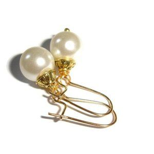 Off white pearl earrings cream pearl earring